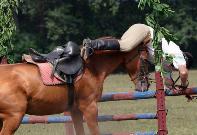 Top 10 different falls on horseback